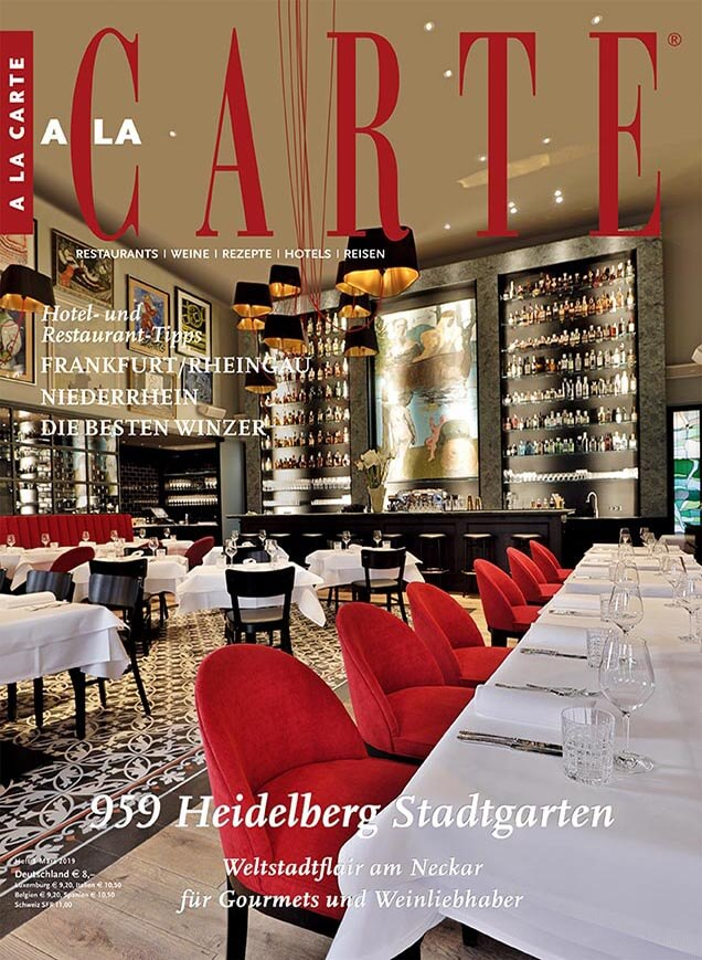 A la carte magazine - Cover of the latest issue
