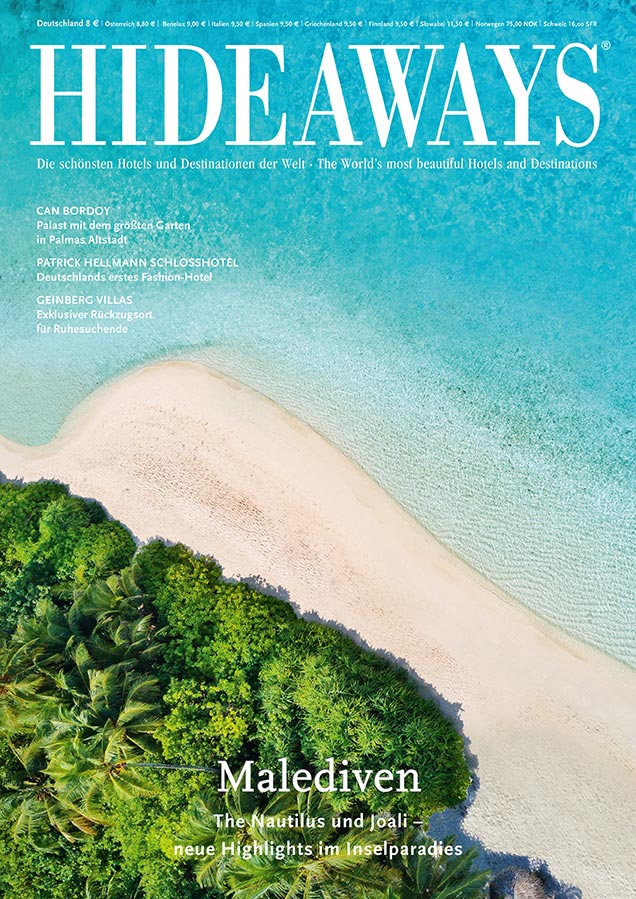 Hideaways magazine - Cover of the latest issue